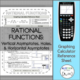 Graphing Calculator Reference Sheet: Rational Functions