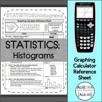 Graphing Calculator Reference Sheet Worksheets & Teaching