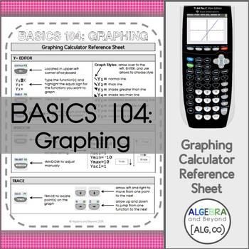 Graphing Calculator Reference Sheets - Basics 104