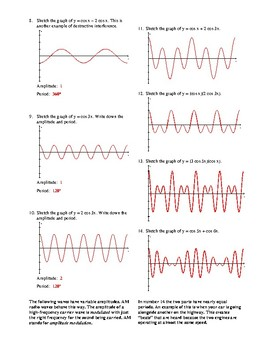 Graphing Calculator Wave Exercise