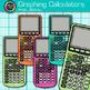 Rainbow Graphing Calculator Clip Art {Measurement Tools fo