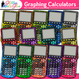 Rainbow Graphing Calculators Clip Art {Measurement Tools for Math Resources}