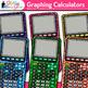 Rainbow Graphing Calculators Clip Art {Measurement Tools f