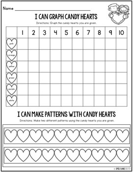 Graphing Candy Conversation Hearts