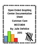 Graphing Center Idea (Open-Ended) With Documentation Sheet