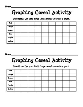 Graphing Cereal Activity