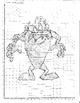 Graphing Points- 1 Quadrant - Tasmanian Devil