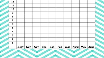 Graphing Chart for Monthly Reading Calendar