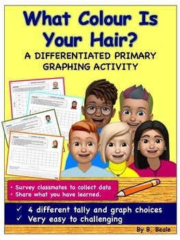 Graphing - Children's Hair Color Graph - 4 pages (Differentiated Activities)