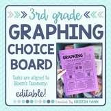 Graphing Choice Board - 3rd Grade, Editable