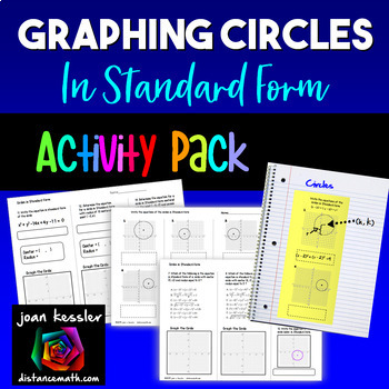 Graphing Circles Standard Form   Interactive Notebook Pages