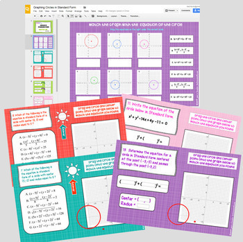 Graphing Circles in Standard Form with GOOGLE Slides™