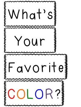 Graphing Class Activity (What's Your Favorite COLOR?)