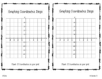 Graphing Coordinates Bingo- 6.NS.6c
