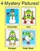 Coordinate Graphing Winter Math Worksheets - Penguin, Snowman, Polar Bear, Owl