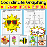 Coordinate Graphing Pictures All Year Bundle - incl. Fall & Thanksgiving Math