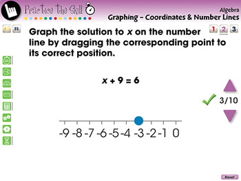 Graphing - Coordinates & Number Lines - Practice the Skill 2 - MAC Gr. 3-5