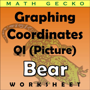 #071 - Graphing Coordinates Picture (Bear)