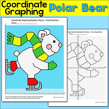 winter math coordinate graphing ordered pairs mystery picture polar bear. Black Bedroom Furniture Sets. Home Design Ideas