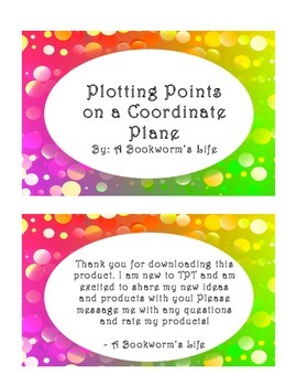 Graphing Coordinates Task Cards (Easy)