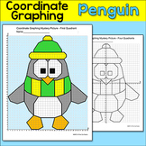 Penguin Coordinate Graphing Ordered Pairs Mystery Picture - Winter Math