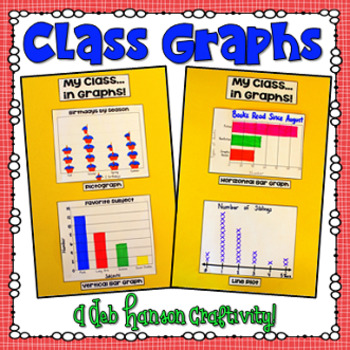 Graphing Craftivity (Pictograph, Line Plot and 2 Scaled Ba