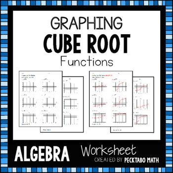 Graphing Cube Root Functions ALGEBRA Worksheet