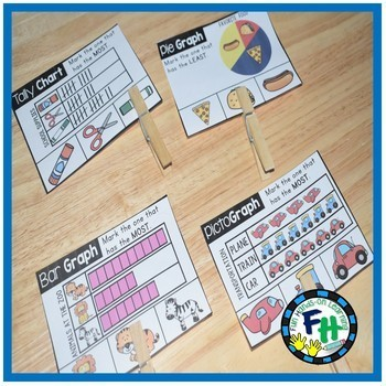 Graphing & Data Activity Centers {Bundle of 8 Centers}