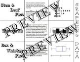 Graphing Data Histogram Box Whisker Stem Leaf Plot Foldable Interactive Notebook