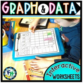Graphing & Data Interactive Worksheets {Kindergarten & First Grade}