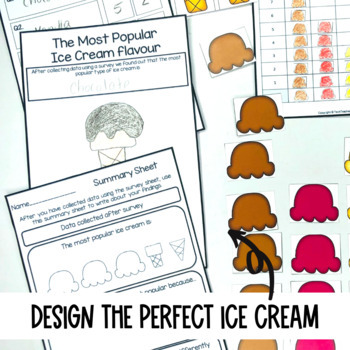 Graphing Data Pack What type of ice cream do you like? survey graph interpret