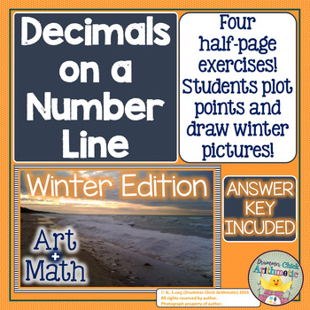 Graphing Decimals on a Number Line - Positive Numbers (Winter Edition)