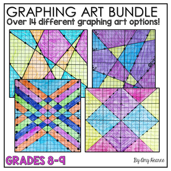 Graphing Equations Stained Glass Art Bundle