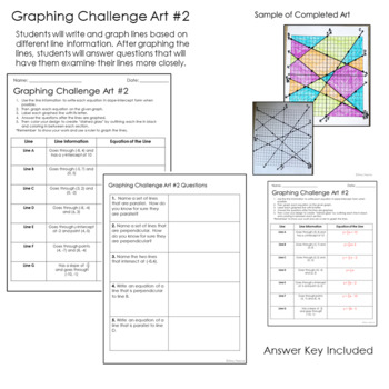 Writing and Graphing Linear Equations Challenge: Stained Glass Art