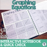 Graphing Equations Interactive Notebook Activity & Quick Check TEKS 5.8C