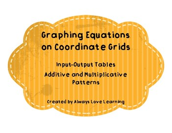 Graphing Equations on Coordinate Grids---upper elementary