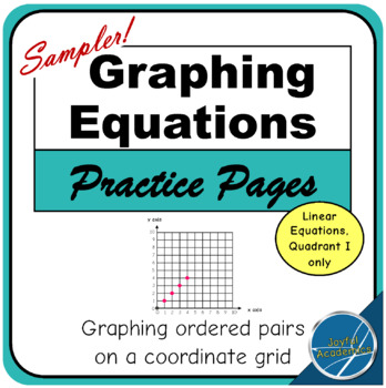 Graphing Equations on a Coordinate Grid - Free Sampler