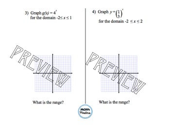 Graphing and Evaluating Exponential Functions Lesson 1 of 2