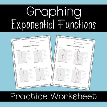 Graphing Exponential Functions By Sine On The Line Tpt