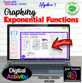 Graphing Exponential Functions Activity with Google™ Slide