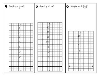 Graphing Exponential Functions (Algebra 1 Skills Practice) by Lisa ...
