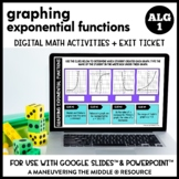 Graphing Exponential Functions Digital Math Activity