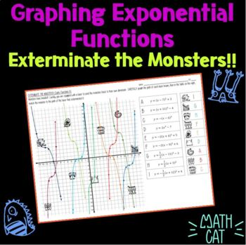 Graphing Exponential Functions- Exterminate the Monsters!
