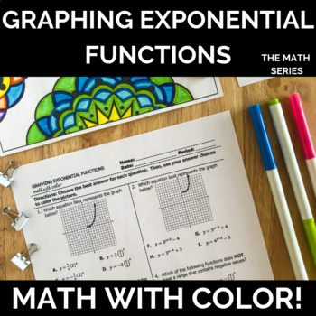 Graphing Exponential Functions - Math with Color!