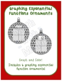Graphing Exponential Functions Ornaments Christmas Coloring