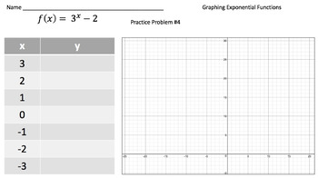 Graphing Exponential Functions (Practice Problems, Video Tutorial & Notes!)