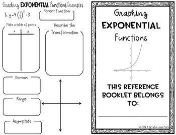 Graphing Exponential Functions Reference Book