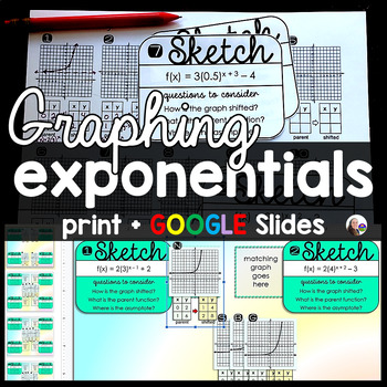 Graphing Exponential Growth and Decay Functions Task Cards