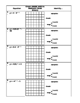 Graphing Exponentials (from Intro to Exponentials Mini-Unit)