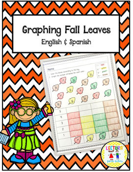 Graphing FALL LEAVES ENGLISH & SPANISH FREE